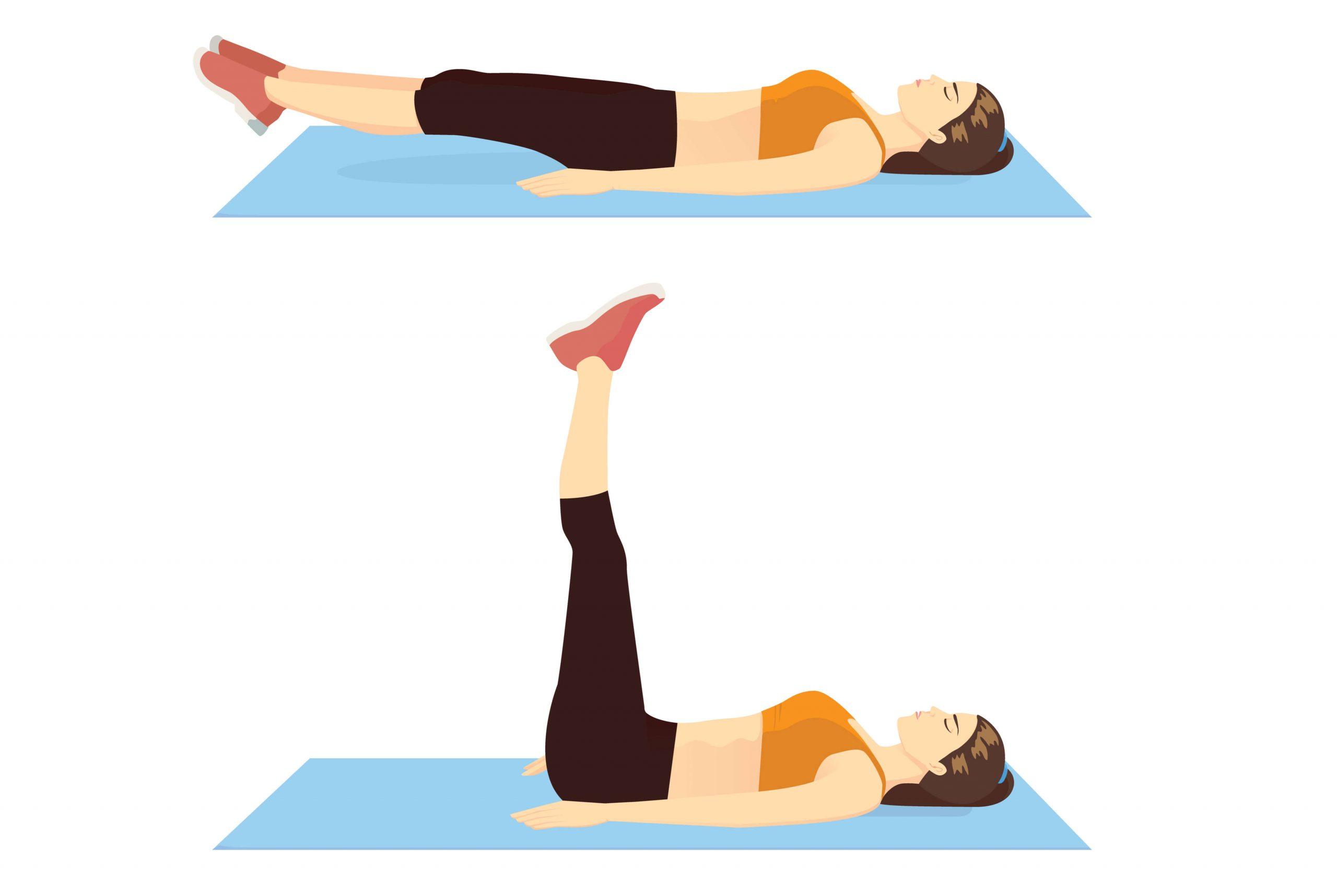 Beinheben für die unteren Bauchmuskeln