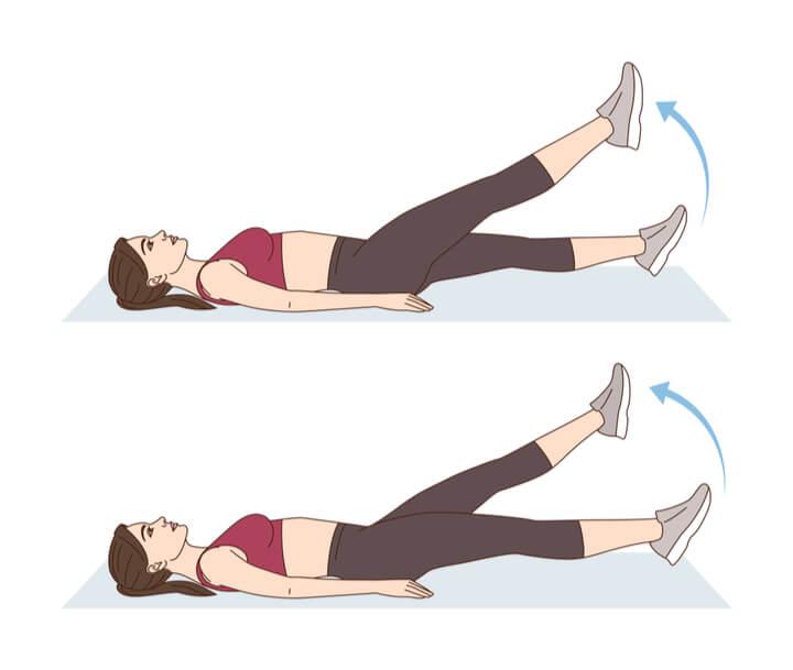 Flutter Kicks für die untere Bauchmuskulatur