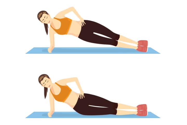 Side Planks für die seitliche Bauchmuskulatur